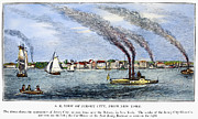 Riverboat Prints - Jersey City, 1844 Print by Granger