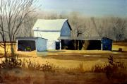 Rural Paintings - Jersey Farm by Donald Maier