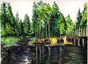 Jersey Pines Print by Clara Sue Beym