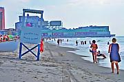 Atlantic Ocean Digital Art - Jersey Shore - Atlantic City by Bill Cannon
