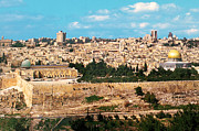 Holy Land Digital Art Framed Prints - Jerusalem 1977 Framed Print by Munir Alawi