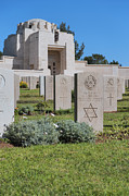 Final Resting Place Framed Prints - Jerusalem British war cemetery Framed Print by Noam Armonn