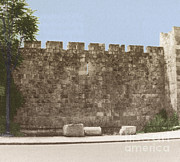 Christendom Framed Prints - Jerusalem City Wall, Historic Site Framed Print by Photo Researchers