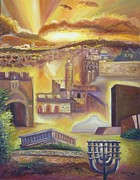 Jerusalem Painting Metal Prints - Jerusalem composed Metal Print by Sara Kesar