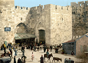 Crowd Scene Metal Prints - Jerusalem: Jaffa Gate Metal Print by Granger