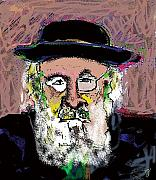 Religious Mixed Media Posters - Jerusalem Man No. 2 Poster by Joyce Goldin
