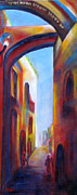 Jerusalem Painting Originals - Jerusalem of Gold by Miki  Sion