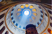 Nahmias Posters - Jerusalem The Church of the Holy Sepulcher dome. Poster by Eyal Nahmias