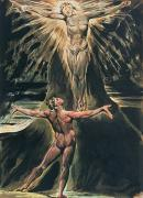 Christ Painting Posters - Jerusalem The Emanation of the Giant Albion Poster by William Blake