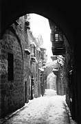 Jerusalem Painting Metal Prints - Jerusalem: Winter Metal Print by Granger