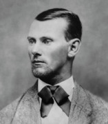 Old West Photo Metal Prints - Jesse James -- American Outlaw Metal Print by Daniel Hagerman