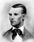 Jesse James, The Western Outlaw Print by Everett