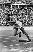 Footrace Photo Prints - Jesse Owens (1913-1980) Print by Granger