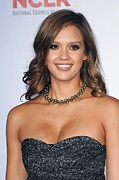 Gold Necklace Art - Jessica Alba At Arrivals For 2011 Nclr by Everett