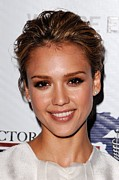 Updo Framed Prints - Jessica Alba At Arrivals For African Framed Print by Everett