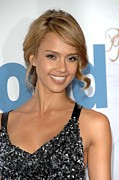 Updo Metal Prints - Jessica Alba At Arrivals For Premeire Metal Print by Everett