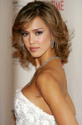 Jessica Alba Metal Prints - Jessica Alba At Arrivals For The Black Metal Print by Everett