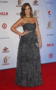 Full Skirt Metal Prints - Jessica Alba Wearing A Dress By Michael Metal Print by Everett
