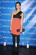 Coral Dress Art - Jessica Alba  Wearing A Narciso by Everett