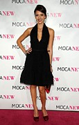 Plunging Neckline Framed Prints - Jessica Alba Wearing A Prada Dress Framed Print by Everett