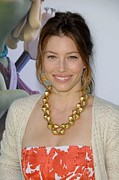 Gold Earrings Photos - Jessica Biel At Arrivals For Planet 51 by Everett
