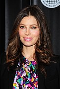 Center Part Prints - Jessica Biel At Arrivals For Summit On Print by Everett