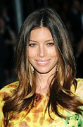 Center Part Prints - Jessica Biel At Arrivals For The 2010 Print by Everett
