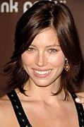 Jessica Biel Framed Prints - Jessica Biel At Arrivals For The 3rd Framed Print by Everett