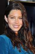 Natural Makeup Posters - Jessica Biel At In-store Appearance Poster by Everett