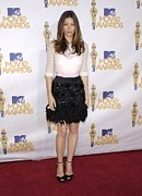 Full Skirt Metal Prints - Jessica Biel Wearing A Giambattista Metal Print by Everett