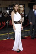 Evening Dress Framed Prints - Jessica Biel Wearing An Emilio Pucci Framed Print by Everett