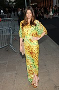 Print Dress Prints - Jessica Biel Wearing Diane Von Print by Everett
