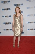 Gold Lame Prints - Jessica Chastain At Arrivals For I Am Print by Everett
