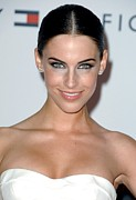 Strapless Dress Framed Prints - Jessica Lowndes At Arrivals For 17th Framed Print by Everett