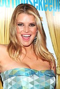 Laughing Framed Prints - Jessica Simpson At Arrivals For Good Framed Print by Everett