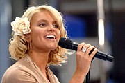2000s Framed Prints - Jessica Simpson On Stage For Nbc Today Framed Print by Everett