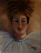 Female Clown Paintings - Jester Justah Sistah by Marlene Book