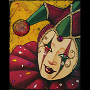 Mardi Gras Paintings - Jester  by Martha Bennett