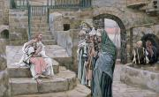 Gouache Paintings - Jesus and the Little Child by Tissot