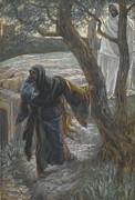 Tissot Painting Metal Prints - Jesus Appears to Mary Magdalene Metal Print by Tissot