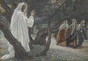 Savior Painting Framed Prints - Jesus Appears to the Holy Women Framed Print by Tissot