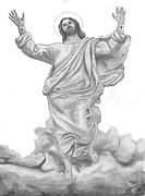 Jesus Approaches The Gates Of Heaven Print by Calvert Koerber