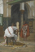 Pontius Pilate Posters - Jesus Before Pilate Poster by Tissot