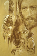 Biblical Drawings Framed Prints - Jesus Framed Print by Bryan Dechter