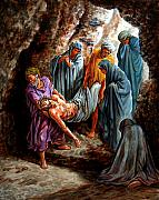 Christ Paintings - Jesus Burial by John Lautermilch