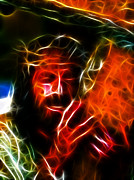 Gospel Digital Art Prints - Jesus Carrying The Cross No2 Print by Pamela Johnson
