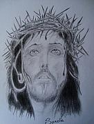 Orthodox Drawings Originals - Jesus Christ by Alexandros Foltopoulos