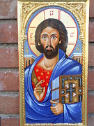 Orthodox Painting Originals - Jesus Christ All Powerfull by Jelio Jelev