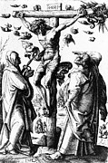 1400s Prints - Jesus Christ, Christ On The Cross Print by Everett
