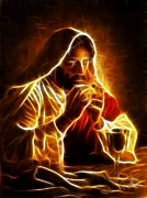 Jesus Christ Last Supper Print by Pamela Johnson